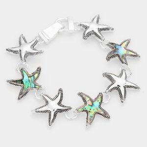 Abalone Starfish Magnetic Link Bracelet